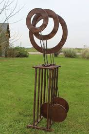 rustic sculpture large metal yard art