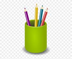 Pens, Pencils, Crayons, Green, Holder, Office, Tools - Pot Of Pencils  Clipart - Free Transparent PNG Clipart Images Download