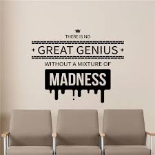 Genius Quote Wall Decal Education Science Office Decor Vinyl Sticker Poster Wall Decor Wall Decals Living D894 Wall Stickers Aliexpress