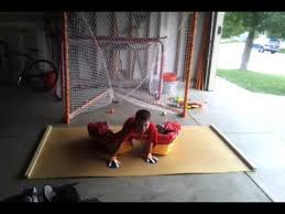 homemade goalie slideboard you