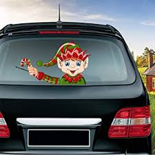 Amazon Com Miysneirn Rear Wiper Decal Christmas Santa Claus Waving Wiper Decals For Rear Window Waterproof Rear Windshield Wiper Decal Attaches To Back Wiper Blade Decal Tags For Vehicles Decoration Christmas Holiday Kitchen Dining