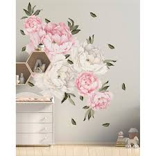 House Of Hampton 28 Piece Peony Flowers Wall Decal Set Reviews Wayfair