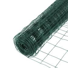Everbilt 2 3 Ft X 50 Ft Pvc Rabbit Guard Garden Fence Welded Wire 308376eb The Home Depot