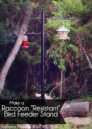 How To Make A Raccoon Resistant Bird Feeder Stand Scattered Thoughts Of A Crafty Mom By Jamie Sanders