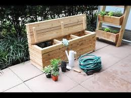 modern outdoor storage bench