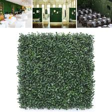 Hel Artificial Leaf Grass Fence Evergreen Screen Hedge Panels Emulated Plant Wall Shopee Philippines