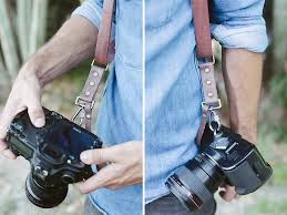 Bronkey Dual Leather Camera Strap, Dual Cameras Strap - Handmade ...