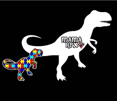 Autism Decal Mama T Rex Car Window Sticker Etsy