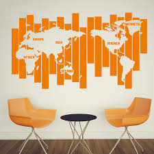 Map World Wall Decal Ellaseal