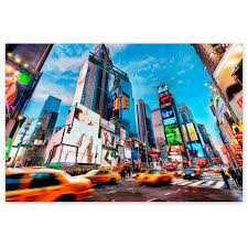 Awkward Styles Colorful Urban Painting City Art New York Souvenirs New York Cityscape Wall Decor New