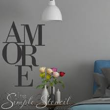 Amore Wall Decal Romantic Decor Vinyl Wall Lettering Wall Design