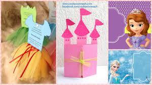 Como Hacer Tarjeta De Cumpleanos Inspirado En Princesas
