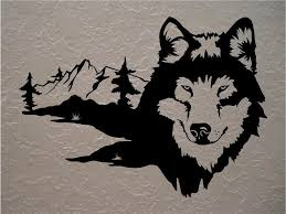 Wolf Wolves Wall Decals Mural Home Decor Vinyl Stickers Decorate Your