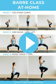 20-Minute Barre Class At Home Workout ...