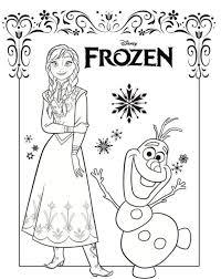 Kleurplaten Kidsnfun Kleurplaat Frozen Anna En Elsa Anna Olaf