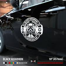 Black Squadron Tie Fighter Pilot Star Wars Dark Side Car Vinyl Sticker Decal Ebay