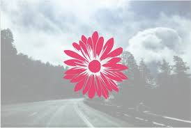 Decal Daisy Decal Flower Custom Flower Vinyl Decal Etsy