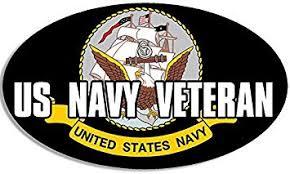 Amazon Com Lpf Usa Magnet Oval Us Navy Veteran Magnetic Sticker Military Naval Vet Automotive