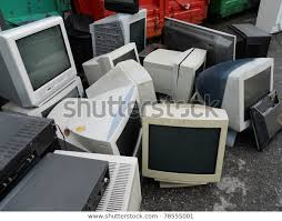 Computer Parts Monitors Electronic Recycling Stock Photo (Edit Now) 78555001