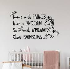 Wall Decals For Girls Nursery Unicorn Quote Wall Vinyl Stickers Kids Room Wall Decoration Inspiring Words Decal Modern Wall Decal Modern Wall Decals From Joystickers 10 22 Dhgate Com