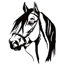 Horse Head Window Decal Horse Head Window Sticker 7176