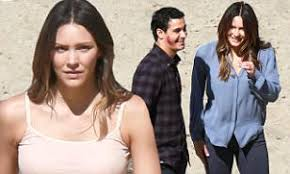 Katharine McPhee happy on set of Scorpion with Elyes Gabel | Daily ...