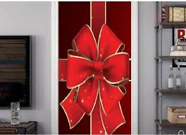 2020 Smt025 Christmas Red Bow Sticker 3d Simulation Door Sticker Removable Waterproof Wall Sticker Bedroom Living Room Diy Peelable Wall Stickers Personalised Wall Stickers From Highqualityok3 14 86 Dhgate Com