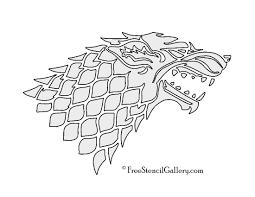 Game Of Thrones House Stark Sigil Stencil 2 Free Stencil Gallery