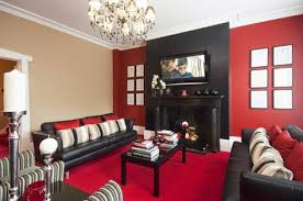 red beige paint wall color design