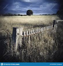 Old Timber Picket Fence And Farm Gate Stock Photo Image Of Analogue Lofi 167457656