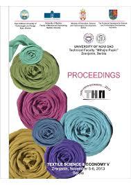 textile science and economy proceedings