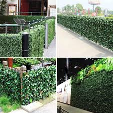 1 Meter Artificial Boxwood Hedge Privacy Orange Fence Outdoor Garden Shop Decorative Green Wall Plastic Trellis Panels Plants Artificial Plants Aliexpress