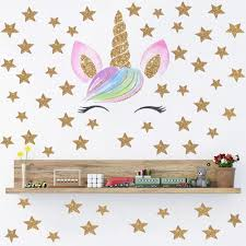 New Hot Cute Unicorn Wall Sticker For Kids Rooms Home Decor Animal Sticker Wallpaper Girls Room Decoration Wall Wall Murals And Decals Wall Murals And Stickers From Pcharon 0 77 Dhgate Com