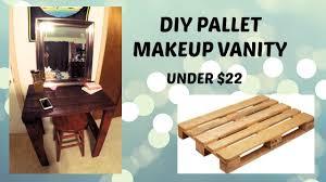 diy pallet makeup vanity you