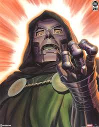 Marvel Doctor Doom Fine Art Lithograph By Alex Ross Art Sideshow Collectibles