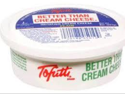 imitation plain cream cheese nutrition