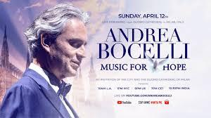 Andrea Bocelli, concerto in streaming mondiale a Pasqua nel Duomo ...
