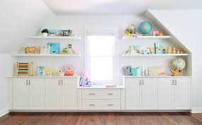 Adding Built Ins White Floating Shelves Around A Window Niche Young House Love