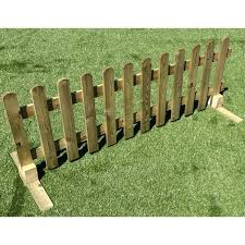 6 Ruby Portable Freestanding Treated Wooden 6ft Picket Fence Panel 3ft High