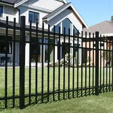 Peak Products Aluminum Fence Panel Black 5 Foot Home Depot Canada Aluminum Fence Fence Fence Design