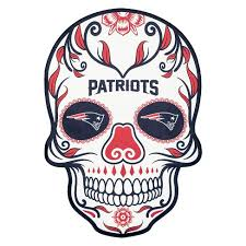 Nfl New England Patriots Small Outdoor Skull Decal Target