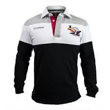 black and white grey toucan rugby jersey