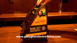 Gallagher S17 Solar Electric Fence Charger Youtube