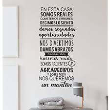 Amazon Com Family Wall Decal Frases De Familia Vinyl Design For Home Decoration Spanish Quote Family Themed Sticker Cg666 10 Width By 22 Height Home Kitchen