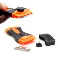 Car Window Sticker Remover Razor Tint Film Scraper Ceramic Glass Oven Blade Tool Ebay