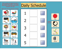 Image result for visual schedule for at home learning elementary school