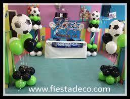 Decoracion Con Globos Futbol By Fiestadeco Com Con Imagenes