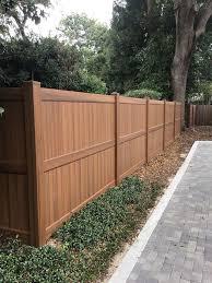 Vinyl Wood Grain Fence Wood Grain Vinyl Fence Vinyl Fence Landscaping Wood Grain Fence