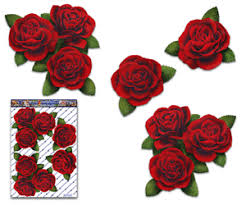 Red Rose Flower Car Decal Corners Large Vinyl Sticker Pack Us St066rd 3 Ebay