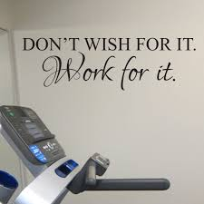 Home Decor Items Don T Wish For It Work For It Vinyl Wall Sticker Motivational Fitness Weights Restaurantecarlini Com Br